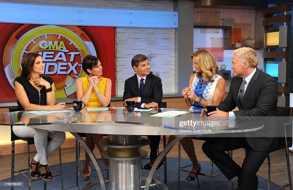 AMERICA - The co-anchors sit down for GMA's Heat Index on 'Good Morning America,' 8/27/13, airing on the ABC Television Network. CHAMPION