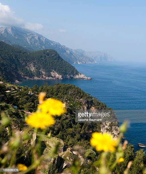 The coast near Banyalbufar on May 20 2010 in Soller Mallorca Spain