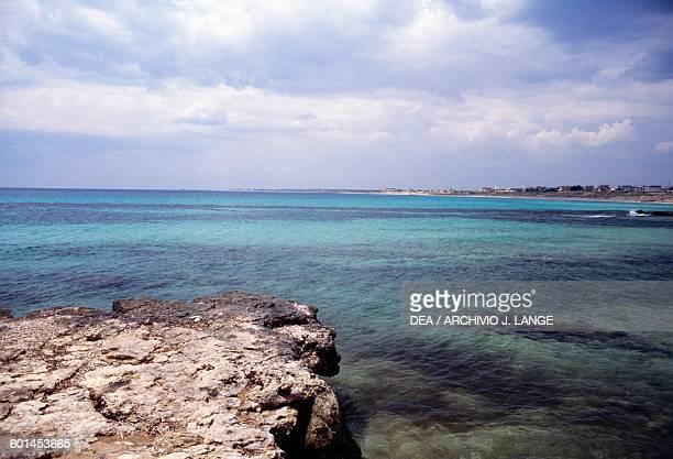The coast near Porto Cesareo Apulia Italy