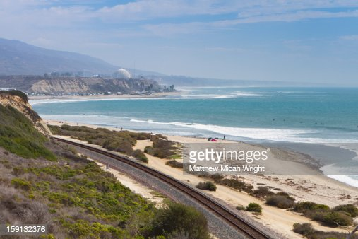 The coastal beaches of San Clemente