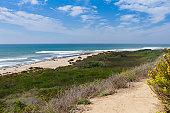The coastal beaches of San Clemente