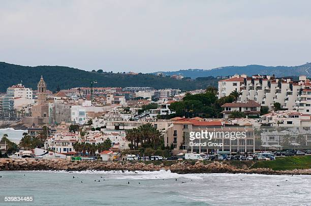 The coastal town of Sitges.