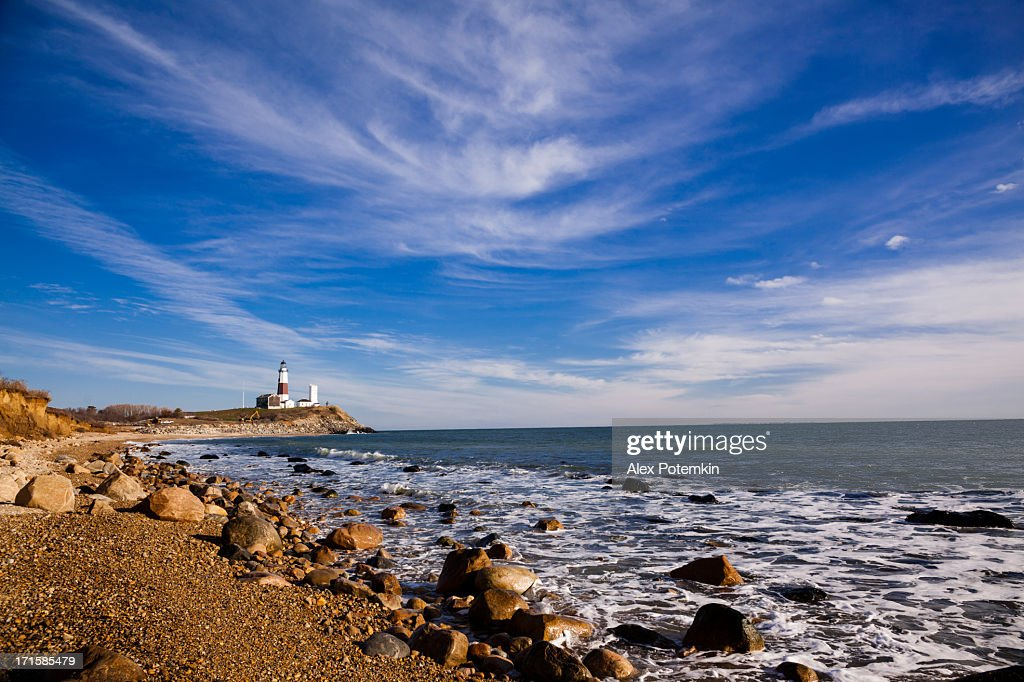 The coastline at Montauk point in Long Island