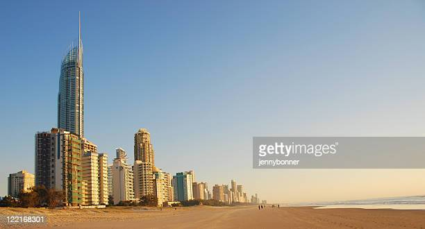 The coastline at Surfers Paradise, Queensland, Australia
