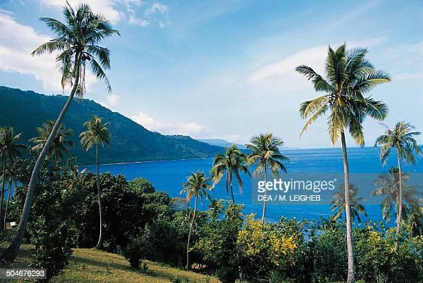 The coastline near Melsisi Pentecost Island Vanuatu