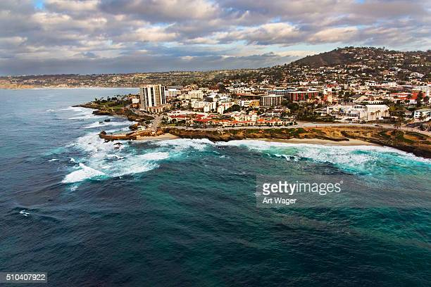 海岸線の ラ ホーヤ カリフォルニアの上からの眺め