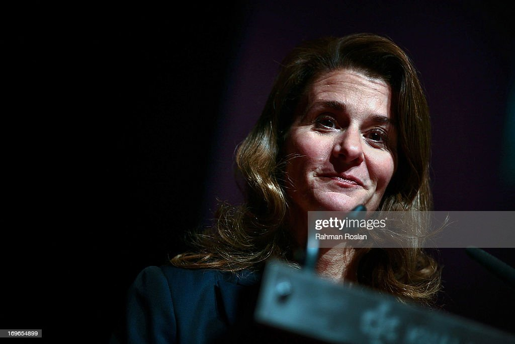 The CoChair of Bill Melinda Gates Foundation Melinda Gates delivers her speech during the final day of The Women Deliver Conference on May 30 2013 in...