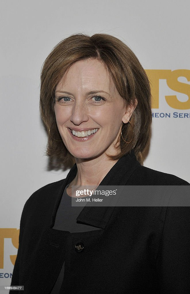 The Co-Chair of Disney Media Networks and President of Disney-ABC Television Group Anne Marie Sweeney attends the Hollywood Radio & Television Society Newsmaker Luncheon Series at The Beverly Hilton Hotel on January 23, 2013 in Beverly Hills, California.
