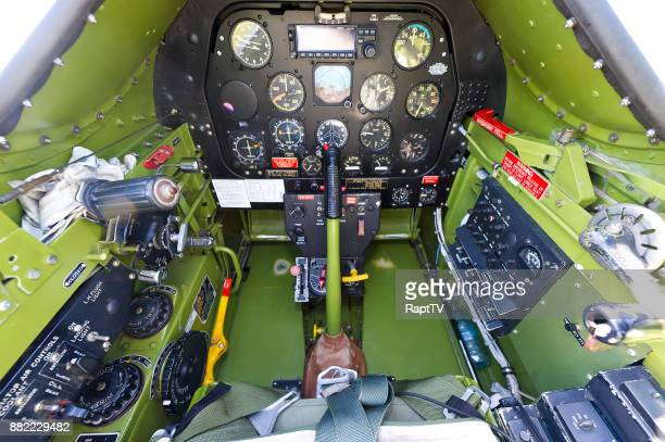 The cockpit of a Mustang P-51.
