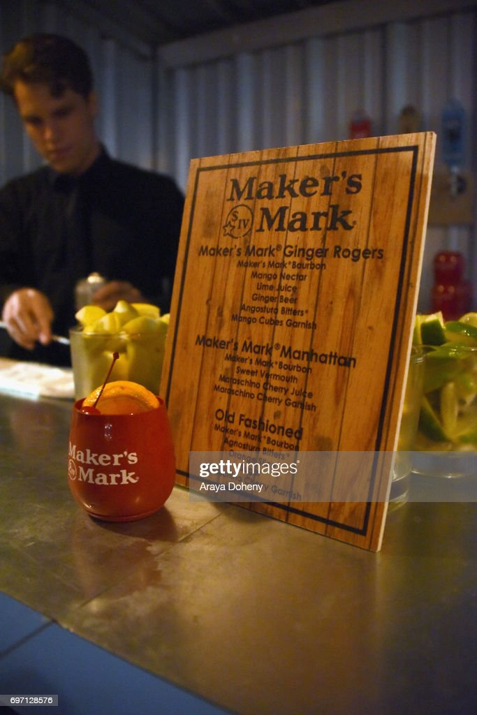 The cocktail menu is seen at the 'Shot Caller' Gala After Party during the 2017 Los Angeles Film Festival on June 17, 2017 in Culver City, California.