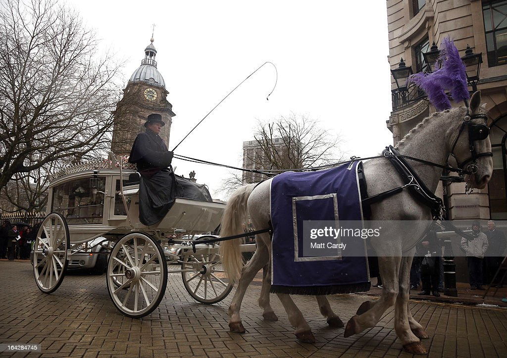 The coffin carrying the body of Christina Edkins leaves her funeral service at St Phillips Cathedral on March 22, 2013 in Birmingham, England. Hundreds of people attended the service for the teenager, who was stabbed to death on a bus in Birmingham. Leasowes High School, in Halesowen, where the 16-year-old was a pupil, was closed today to allow children and staff to join her family at the service