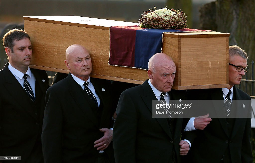 The coffin containing the remains of King Richard III is carried by pallbearers into St Nicholas Church during a procession through Leicester City centre ahead of a reinternment at Leicester Cathedral, on March 22, 2015 in Leicester, England. The skeleton of King Richard III was discovered in 2012 in the foundations of Greyfriars Church, Leicester, 500 years after he was killed in the Battle of Bosworth Field. Richard III's casket will lie inside Leicester Cathedral for public viewing for three days until 26 March when he will be reinterred during a service attended by members of the royal family.