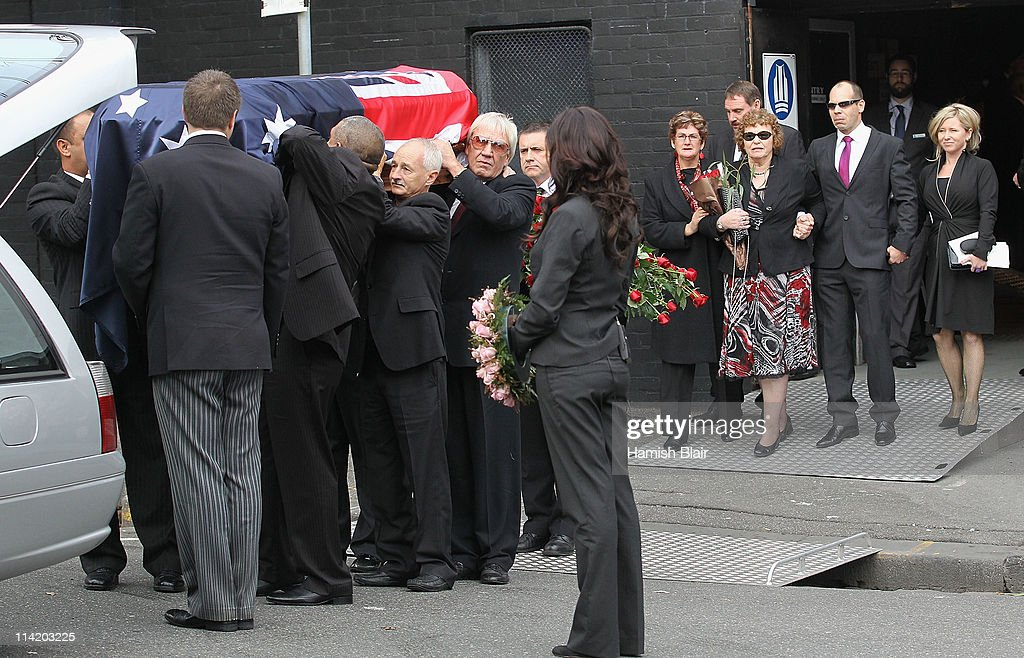 The coffin leaves Festival Hall followed by Jenny Rose wife of Lionel Rose after the State Funeral held for former Australian boxer Lionel Rose at Festival Hall on May 16, 2011 in Melbourne, Australia. Rose, who passed away on May 8, was the first indigenous Australian to win a boxing world title and was the 1968 Australian of the Year.