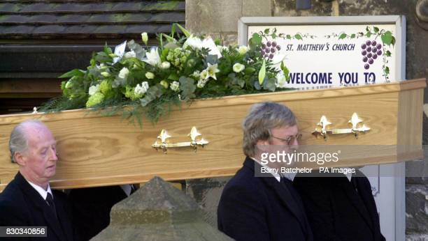The coffin of Andrew Pennington at St Matthew's Church Cheltenham Liberal Democrat aide Andrew Pennington died in a sword attack at Nigel Jones...