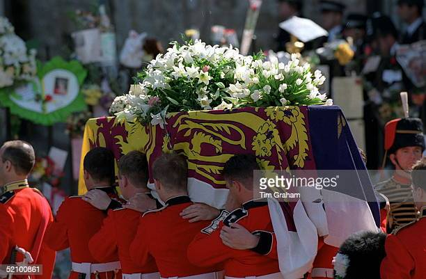 The Coffin Of Diana Princess Of Wales At Her Funeral At Westminster Abbey London