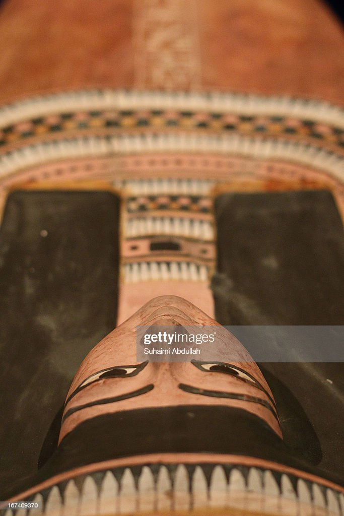 The coffin of Nesperennub is displayed during a media preview of the Mummy: Secrets of the Tomb exhibition at ArtScience Museum on April 25, 2013 in Singapore. The exhibition includes more than 100 artifacts and six mummies from the heralded ancient Egyptian collection of the British Museum. Among the mummies displayed is the Egyptian temple priest, Nesperennub who lived 3,000 years ago. The exhibition will run from April 27 till November 4, 2013.