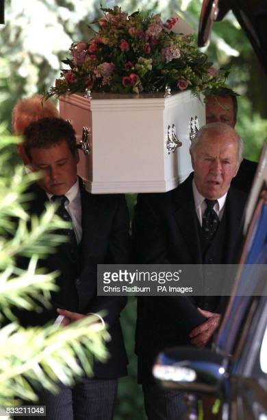 The coffins of Jasmine KumariBaker and her sister Davina arrive at Cambridge Crematorium Cambridge for their joint funeral PRESS ASOCIATION Photo...