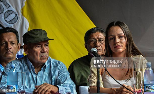 The cofounder of the Revolutionary Armed Forces of Colombia commander Miguel Pascuas guerrilla fighter Tanja Nijmeijer commander Fidel Rondon and...