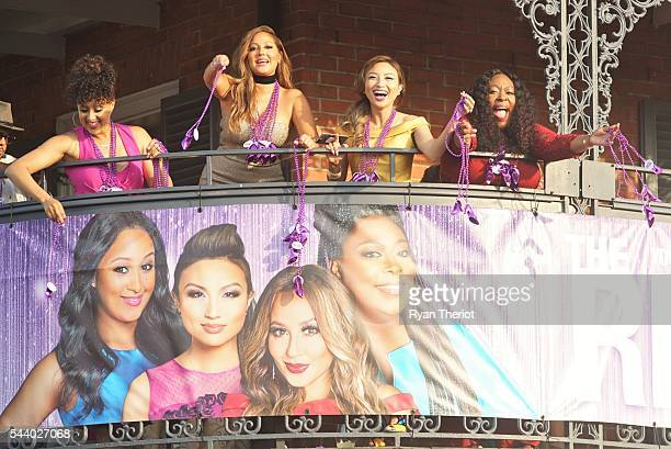 The cohosts of 'The Real' Tamera MowryHousley Adrienne Bailon Jeannie Mai and Loni Love treat fans on New Orleans' iconic Bourbon Street to some...