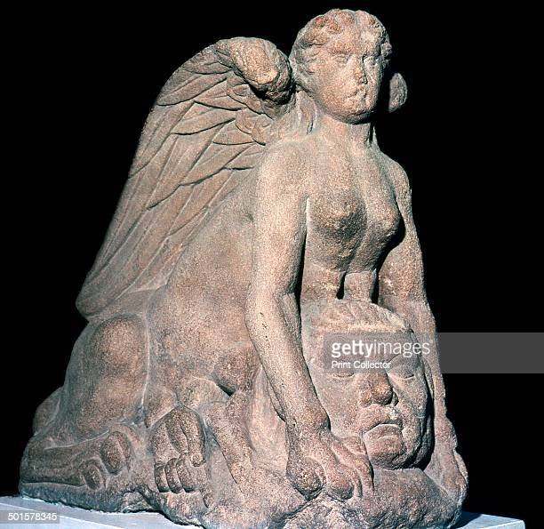 The Colchester Sphinx from a Roman funerary monument at Colchester Essex It is made of Bath oolite 1st century