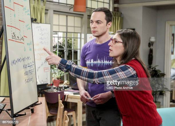 'The Collaboration Fluctuation' Pictured Sheldon Cooper and Amy Farrah Fowler Leonard Penny and Raj adjust to their new living arrangement and...