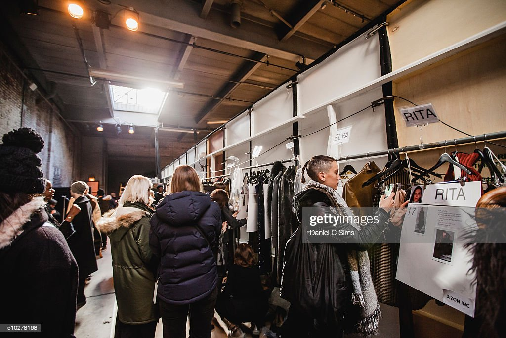 The collection backstage at the Sally LaPointe show at the Fall 2016 New York Fashion Week on February 14, 2016 in New York City.