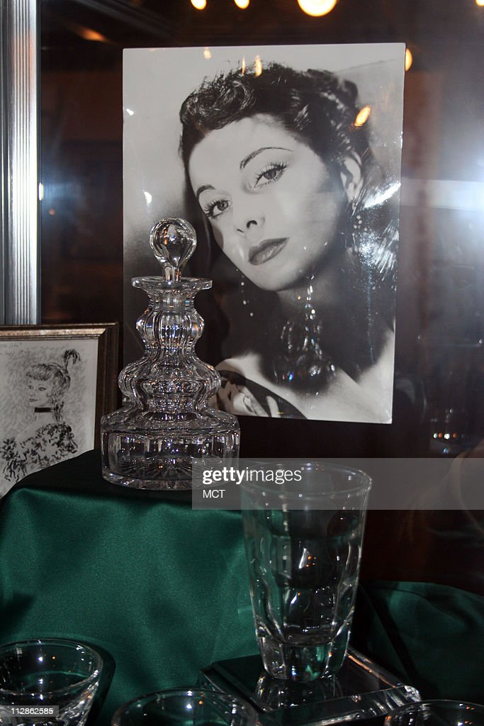 The collection includes Vivien Leigh's personal items, including this crystal barware from her home.