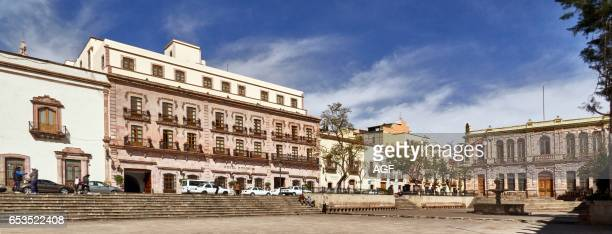 The Colonial Center And The Armas Square In Zacatecas City In Mexicounesco World Heritage City