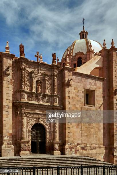 The colonial center and the cathedral in Zacatecas city in Mexico Unesco world heritage city