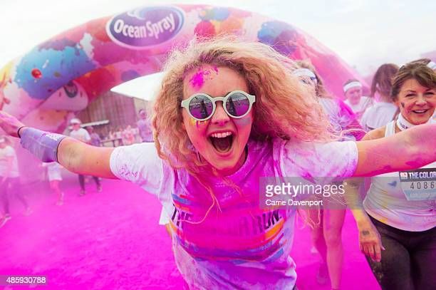 The Color Run dubbed the 'Happiest 5k on the Planet' took place at the Titanic Quarter in Belfast on August 30 2015 in Belfast Ireland Starting the...