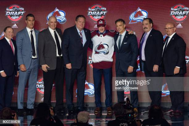 The Colorado Avalanche select defenseman Cale Makar with the 4th pick in the first round of the 2017 NHL Draft on June 23 at the United Center in...