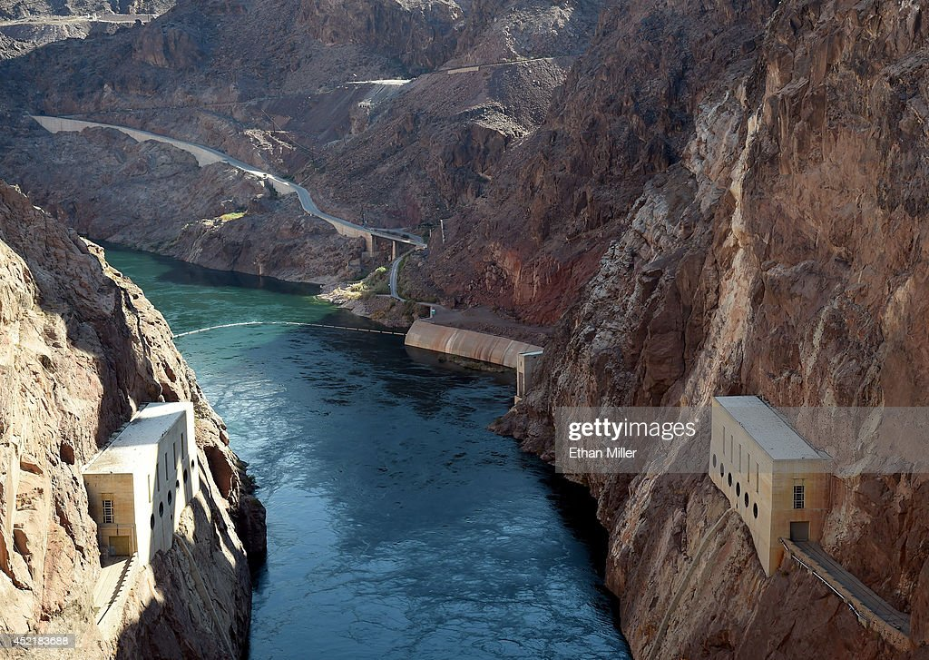 The Colorado River flows at the Hoover Dam on July 14 2014 in the Lake Mead National Recreation Area Nevada Last week North America's largest manmade...