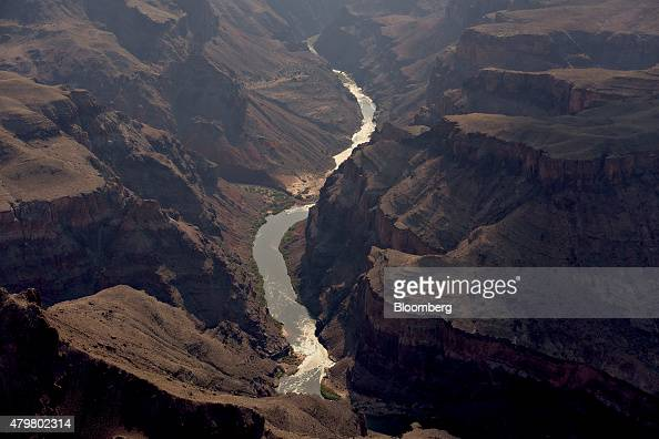 The Colorado River runs through Grand Canyon National Park in this aerial photograph taken above Grand Canyon Arizona US on Thursday June 25 2015 The...