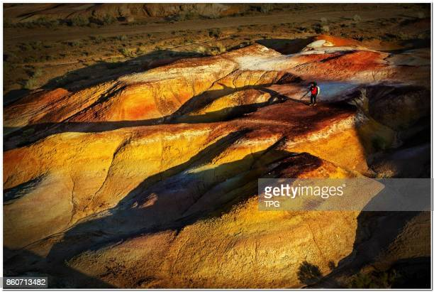 The 'colorful city' is located at Aletai area in Xinjiang Uygur Autonomous Regionis a hilly terrain affected by wind and water generally 1020 meters...