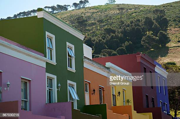 The colorful houses of Bo-Kaap and Signal Hill.