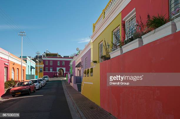 The colorful houses of Bo-Kaap in Cape Town.
