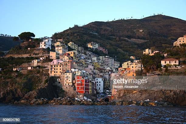 The colorful seaside town of Riomaggiore on Italy's northwest coast is one of five villages which comprise the Cinque Terre region popular with...