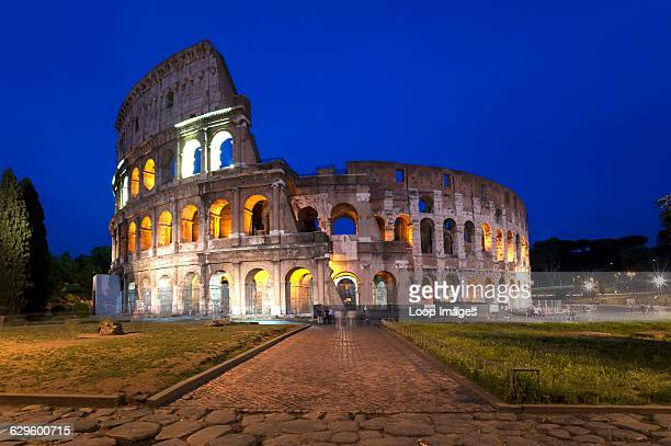 The Colosseum at night The Colosseum Italy