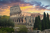 The Colosseum or Coliseum, also known as the Flavian Amphitheatre, is an oval amphitheatre in the centre of the city of Rome, Italy. Built of concrete and sand, it is the largest amphitheatre ever bui