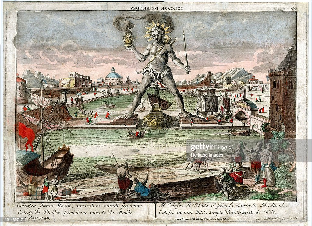 The Colossus of Rhodes 1760 From a private collection