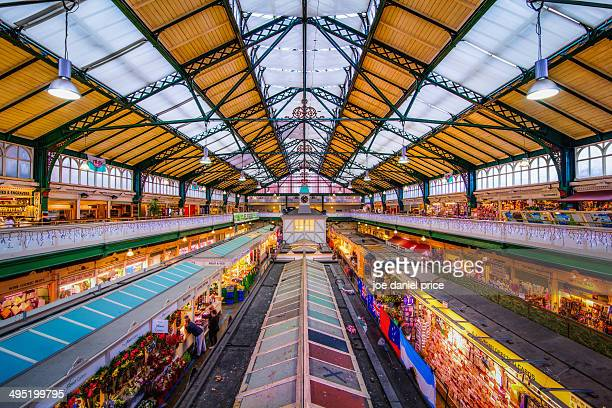 The colourful Cardiff Market, Wales