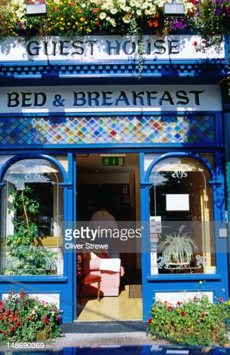 The colourful entrance to a bed and breakfast - Dublin, County Dublin