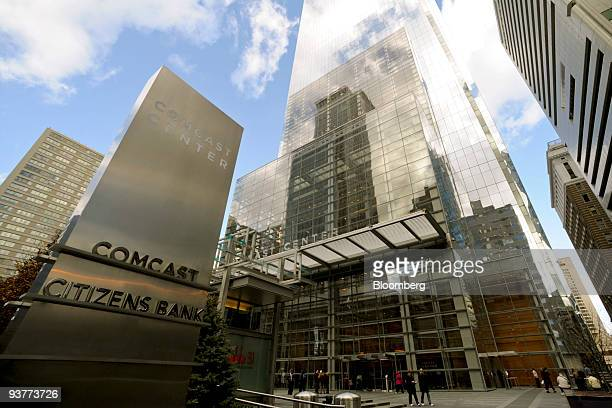 The Comcast Center building which houses the headquarters of Comcast Corp stands in Philadelphia Pennsylvania US on Thursday Dec 3 2009 Comcast Corp...