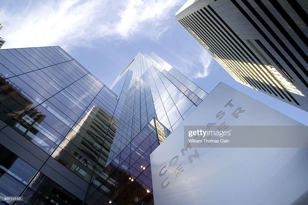 The Comcast Center, which is Comcast Corporate headquarters, is seen December 3, 2009 in Philadelphia, Pennsylvania. Comcast Corp. announced December 3, that it will acquire a majority stake in NBC Universal Inc., paying GE 6.5 billion dollars.
