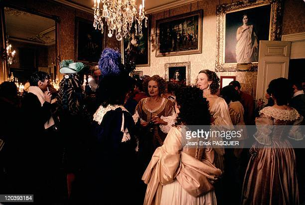 The Comedie Francaise in Paris France in 1990 In the artists' foyer after 'The Hommage to Moliere' The famous Rachel in a painting in the background