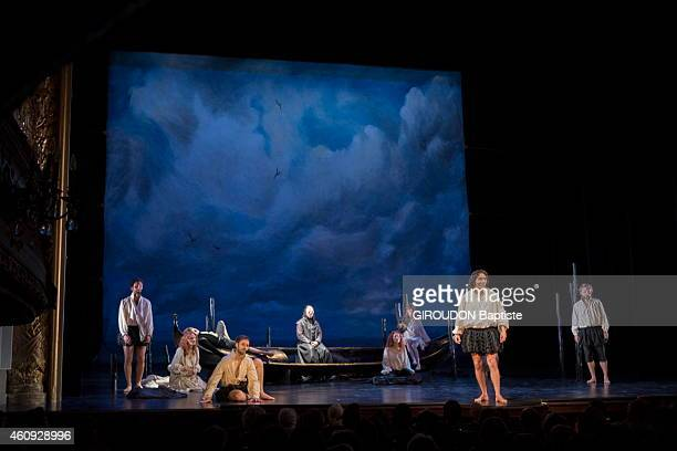 the Comedie Francaise the most famous theatre in Paris the actors on stage for the drama Lucrece Borgia by Victor Hugo on July 14 2014