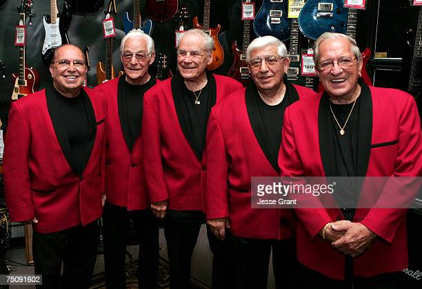 The Comets Joey Ambrosio Franny Beacher Dick Richards Johnny Grande and Marshall Lytle of Bill Haley His Comets