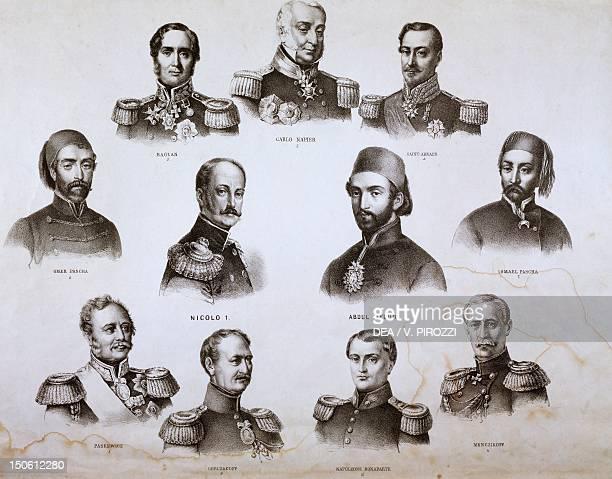The commanders of the forces Tsar Nicholas I Abdul Medio Charles Napier Saint Arnaud Raglan Omer Pascha Ismael Pascha Paskewicz Gorczakoff Napoleon...