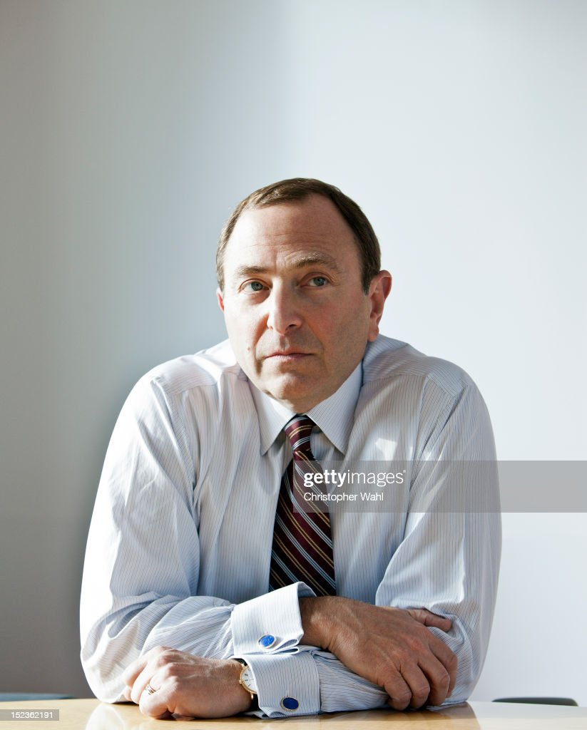 The Commissioner of the National Hockey League, <a gi-track='captionPersonalityLinkClicked' href=/galleries/search?phrase=Gary+Bettman&family=editorial&specificpeople=215089 ng-click='$event.stopPropagation()'>Gary Bettman</a>, is photographed for Self Assignment on November 9, 2009 in Toronto, Ontario.
