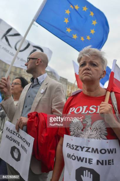 The Committee for the Defence of Democracy and members of the opposition from 'Malopolska' region organized a 'March against Fascism' to say NO...